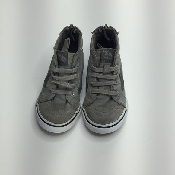 314845b513 Toddler grey high top vans. M 5c39119a619745f6a7138b24